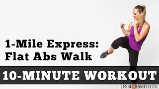 Download 1 Mile Express Abs Walk - Low Impact Cardio Core Workout You Can Do At Home In a Small Space! Video