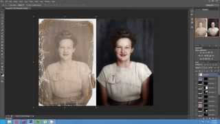 Download Timelapse of the Colorization and Restoration of a Damaged Photo Video