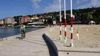 Download Walk on Portorož promenade Video