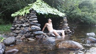 Download Primitive Technology: Build a Stone Hut on the Stream Video