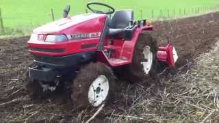 Download Yanmar Ke-2 4WD Compact Tractor with Rotavator Video