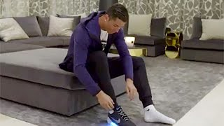 Download Cristiano Ronaldo Wears First Self-Lacing Shoes Video