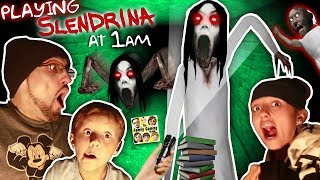 Download SLENDRINA @ 1am! GURKEY! Granny's Grandaughter in the Cellar Basement! (FGTEEV @ Night) Video