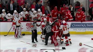 Download Gotta See It: Chaotic bench brawl erupts between Flames and Red Wings Video