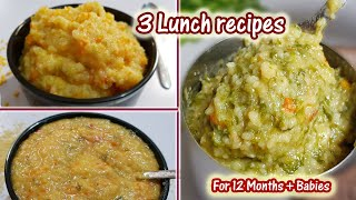 Download Baby Food || 3 Lunch Recipes for 12 months above children Video