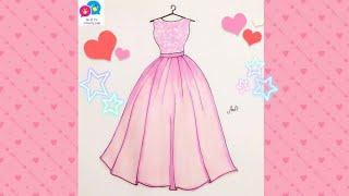 Download Draw Wedding Dress 5 for girl - Vẽ Váy Cưới 5 - An Pi TV Coloring Video