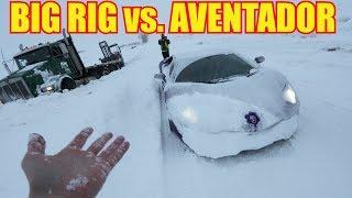 Download Lamborghini Aventador Snow Plow meets Utah Snow Typhoon Video