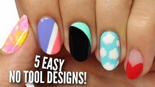 Download No Tool Nail Art: 5 Easy & Cute Designs! Video