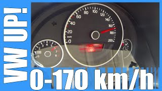 Download VW Up! 1.0 75 HP 0-170 km/h Acceleration & Top Speed Run Test Video