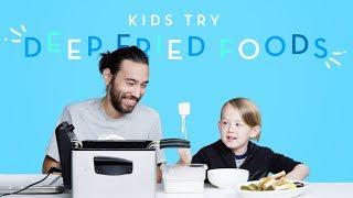 Download Kids Try Deep Fried Foods | Kids Try | HiHo Kids Video