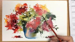 Download Beginners Loose Watercolours 'Red Moment' with Andrew Geeson Video