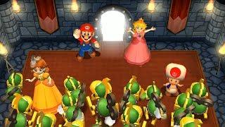 Mario Party 9 Goomba Bowling - Kamek vs Toad vs Mario vs Luigi