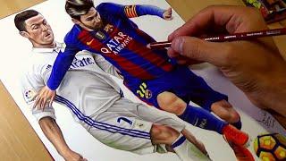 Download Drawing Ronaldo vs Messi Video