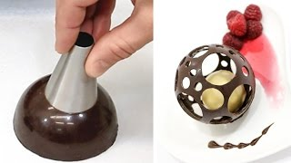 Download Chocolate Spheres Easy Chocolate Technique to Make At Home by CakesStepbyStep Video