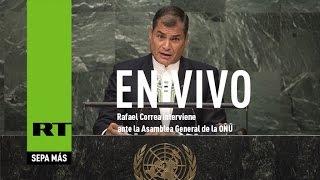 Download El discurso de Rafael Correa en la 70ª Asamblea General de la ONU 2015 Video