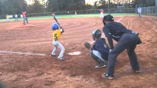 Download Alex (8yr) playing 14u baseball with big brother's team Video