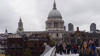 Download Over the Millennium Bridge - London Video