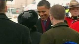 Download Barack Obama received by Governor General Michaëlle Jean in Ottawa Canada Video