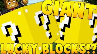 Download HUGE HOUSE Giant Lucky Blocks Mod Challenge | Minecraft - Lucky Block Mod Video
