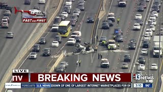 Download Multiple vehicles involved in crash on I-15 Video
