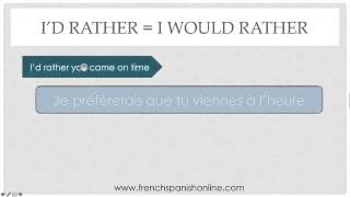 Download I'd Rather in French Video