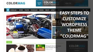 Download easy steps to customize the wp theme ″colormag″ Video