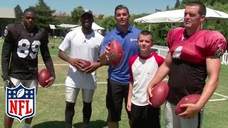 Download Amari Cooper, Michael Crabtree & Carr Brothers Face Off in Passing Competition | NFL Video