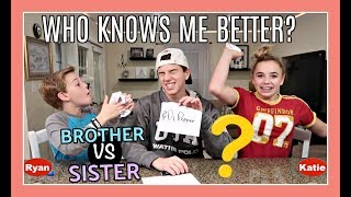 Download WHO KNOWS ME BETTER CHALLENGE (BROTHER vs. SISTER) Video