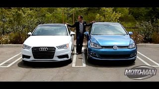 Download 2015 Audi A3 2.0 Turbo vs 2015 VW Golf GTI – A Tale of One Platform & Two Cars Video