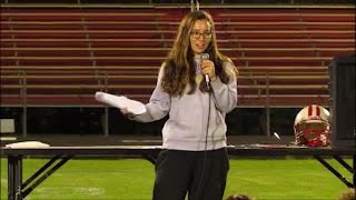 Download Mollie Tibbetts speaks about prayer in 2016 video Video