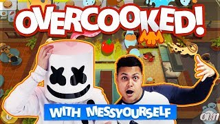 Download Playing OVERCOOKED with MessYourself | Gaming with Marshmello Video