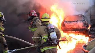 Download Three People Trapped In House Fire / Riverside RAW FOOTAGE Video