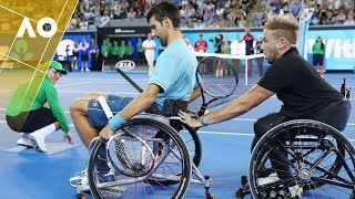 Download Novak Djokovic plays wheelchair tennis | Australian Open 2017 Video