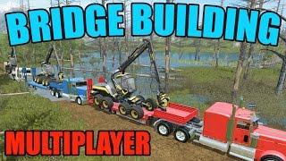 Download FARMING SIMULATOR 2017   BRIDGE CONSTRUCTION   MULTIPLAYER   WOODCHIPS Video