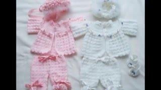 Download Chambritas tejidas a crochet para bebe Video