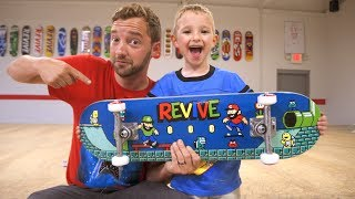 Download New VIDEO GAME ReVive Skateboard Setup! / Andy Schrock Video