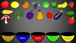 Download Fruits and Vegetables Colors, Color Sorting For Kids, Educational Video Kindergarten Preschool Game Video