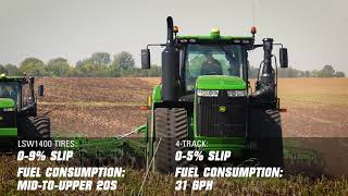 Download John Deere 9RX vs World's Largest Farm Tires Video