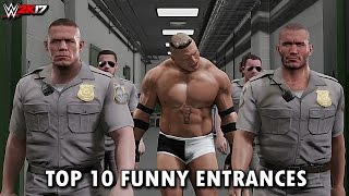 Download WWE 2K17 - Top 10 Funniest Entrances ″GIMMICK SWAP″ Cena, Reigns, Lesnar & More! (PS4 & XB1) Video