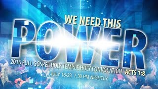 Download FGHT Dallas: Holy Convocation 2016 (Monday Night) Video