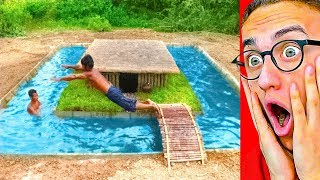 Download They Built An INSANE SECRET UNDERGROUND POOL HOUSE! Video