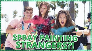 Download Spray Painting Strangers?! | Do It For The Dough w/ Tessa Brooks and Anthony Trujillo Video