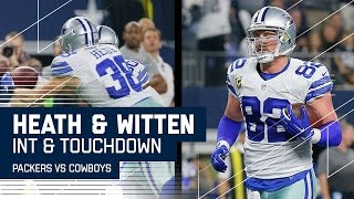 Download Rodgers INT Leads to Prescott Tossing TD to Witten | Packers vs. Cowboys | NFL Divisional Highlights Video