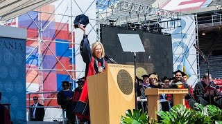 Download Penn's 2016 Commencement Ceremony- President Amy Gutmann Video