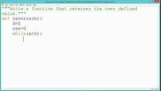 Download Python Program - Reverse of a number Video