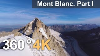 Download 360°, Mont Blanc, Italy-France. Part I. 4К aerial video Video