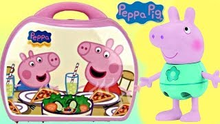 Download Nick Jr. PEPPA PIG Mini Pizzeria Play Set Carry Case, George Pizza, Shopkins Food Fair Toy / TUYC Video