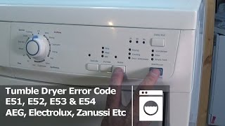 Download Tumble dryer error code E51, E52, E53 & E54 Electrolux, AEG, Zanussi Video