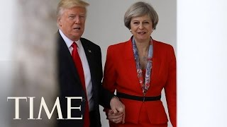 Download President Trump Meets with British Prime Minister May, Shows Support For NATO | TIME Video