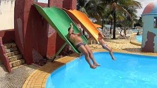 Download Scary Falls Water Slide at Acquamania Video